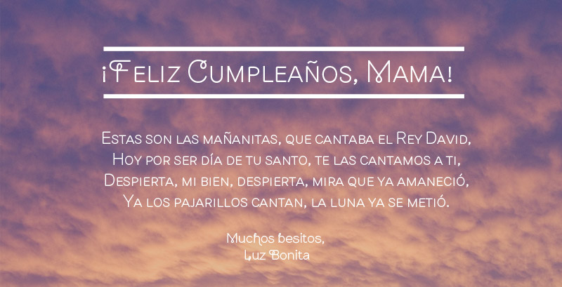 happy birthday quotes in spanish for mom